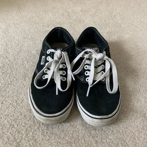 Women black vans 7.5- used but in good condition